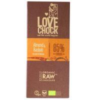 Lovechock raw almond & baobab 85%