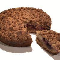 Broekmans vegan blueberry crumble taart