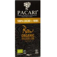 Pacari raw 100% + nibs