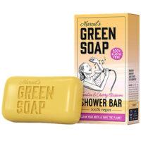 Marcel's Green Soap shower bar vanilla & cherry blossom