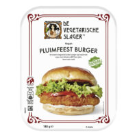 De Vegetarische Slager pluimfeest burger