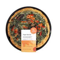 De Oorsprong vegan quiche met spinazie paprika en kastanjechampignons
