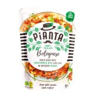 Pianta bolognese pastasauce with vegan minced meat and veggies