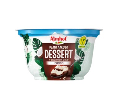 Almhof plantaardig dessert choco