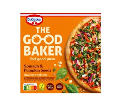 Dr. Oetker the good baker spinach & pumpkin seeds pizza
