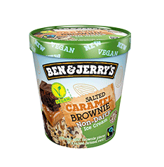 Ben & Jerry's non-dairy salted caramel brownie